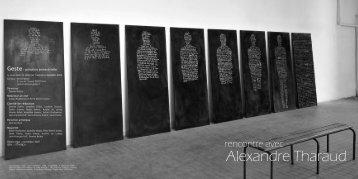 Alexandre Tharaud - Revue Geste