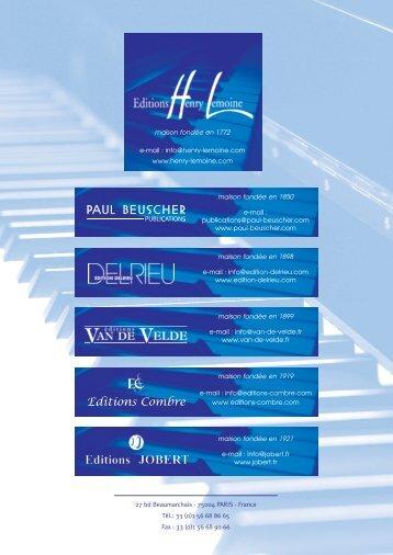 Télécharger un extrait en PDF - Editions musicales Henry Lemoine