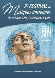 Musiques anciennes - Office du tourisme de Besançon