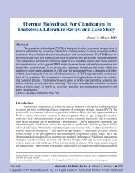 Thermal Biofeedback for Claudication in Diabetes: A Literature ...