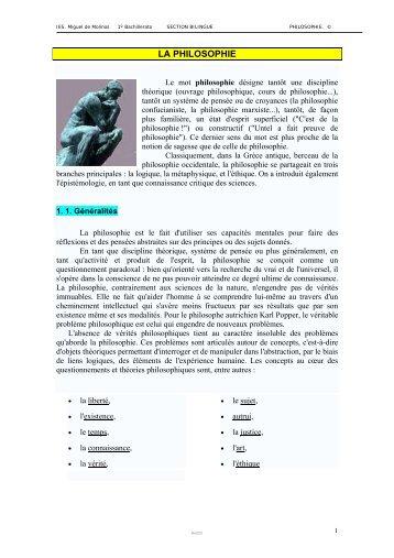 1. La philosophie - IES Miguel de Molinos