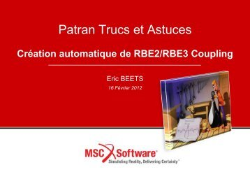 RBE2 COUPLING - MSC Software