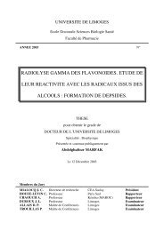 Radiolyse gamma des flavonoïdes : étude de leur ... - Epublications