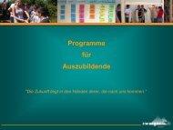 Präsentation über unser Azubi Training (918 KB) - Zwerger & Raab
