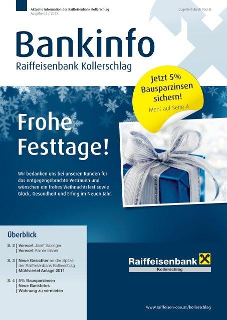Bankinfo zum Download (pdf, ca. 5 MB) - Oberösterreich