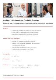 Anmeldeformular testXpert® in der Praxis für Einsteiger (PDF) - Zwick