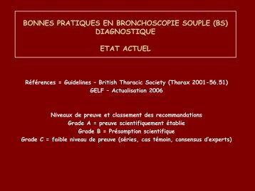 BONNES PRATIQUES EN BRONCHOSCOPIE SOUPLE (BS ...