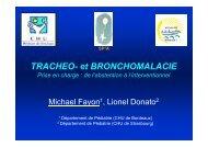 Prise en charge de la trachéo et bronchomalacie
