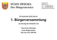 geht's zur Präsentation der Bürgerversammlung 2011 - Zwiesel