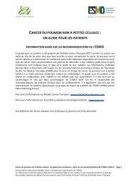 cancer poumon non a petites cellules - the European Society for ...