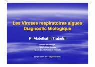 Les Viroses respiratoires aigues Diagnostic Biologique