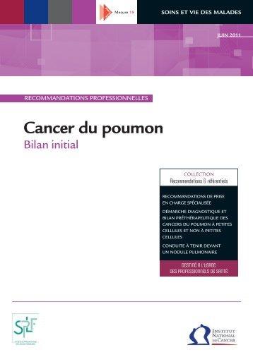 Cancer du Poumon, Bilan initial - Institut National Du Cancer