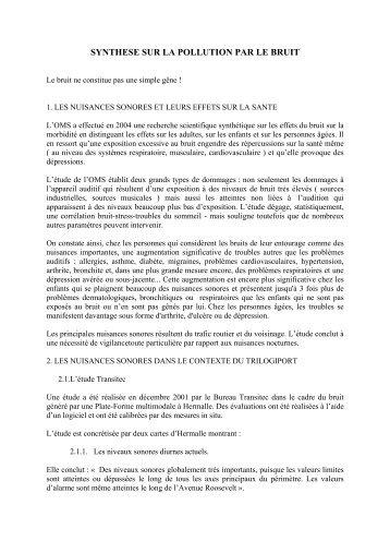 Trilogiport - Synthèse sur les nuisances sonores - Comite de Village ...