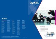 Business WLAN Product Solution Guide - ZyXEL