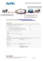 WALL VPN DynDNS-SoftRemoteLT - ZyXEL