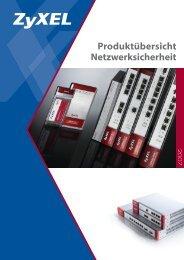 Produktübersicht Netzwerksicherheit - ZyXEL