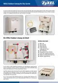 VDSL2 - Lösungen für City-Carrier. - ZyXEL - Seite 2