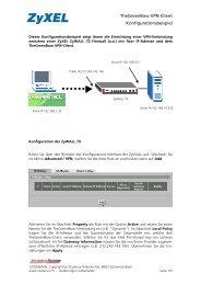 TheGreenBow VPN-Client Konfigurationsbeispiel - ZyXEL