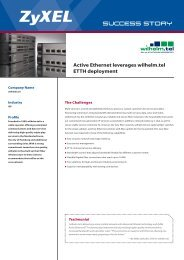 Active Ethernet leverages wilhelm.tel ETTH deployment - ZyXEL