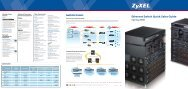 Ethernet Switch Quick Sales Guide - ZyXEL