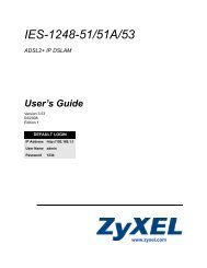 IES-1248-51/51A/53 ADSL2+ IP DSLAM User's Guide - ZyXEL