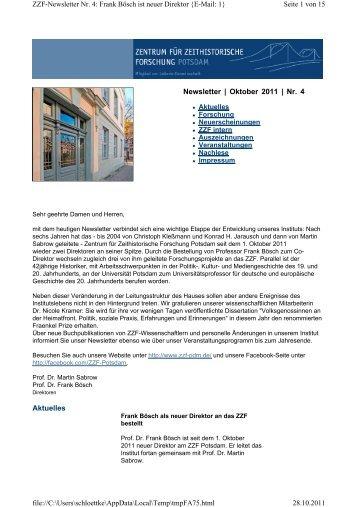 Oktober 2011 - Zentrum für Zeithistorische Forschung Potsdam