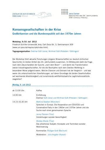 Tagungsprogramm - Zentrum für Zeithistorische Forschung Potsdam