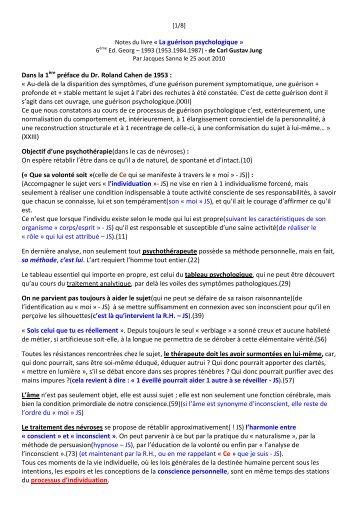 Notes du livre « La guérison psychologique » Dans la ... - Jacques