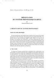 LACEB, Mohand Oulhadj, « Présentation du système phonologique ...