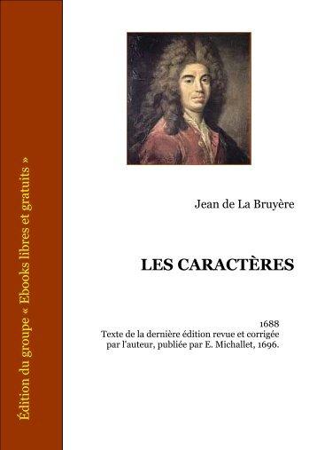 LES CARACTÈRES - Oasisfle