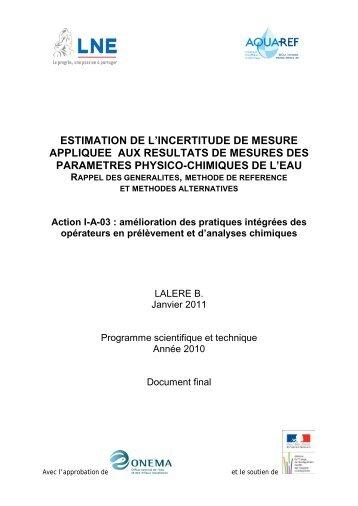Guide généralités et méthodes pour estimation ... - Aquaref