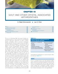 GOUT AND OTHER CRYSTAL-ASSOCIATED ARTHROPATHIES