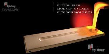 PIETRE FUSE MOLTEN STONES PIERRES MOULÉES - Styl-Comp