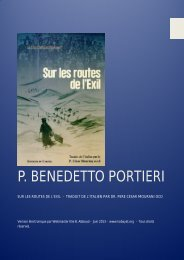 Edition 2011 P. Benedetto Portieri ocd - Kobayat.org