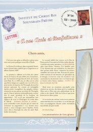 20 - Institut du Christ Roi Souverain Prêtre