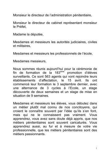 Lire le discours de Philippe Pottier - Enap
