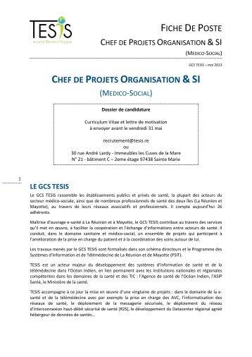 Fiche De Poste Anesm Chef De Projet Methodes Et Donnees