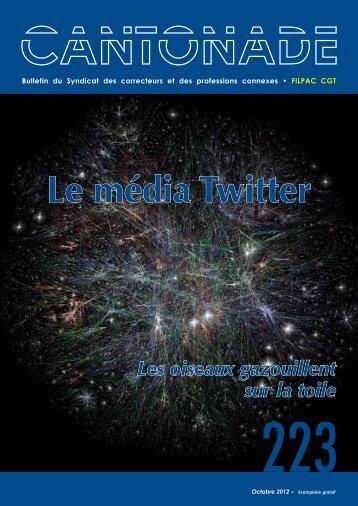 Le média Twitter - Le syndicat des correcteurs