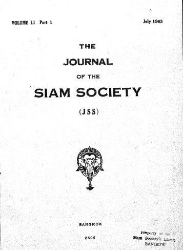 The Journal of the Siam Society Vol. LI, Part 1-2, 1963 - Khamkoo