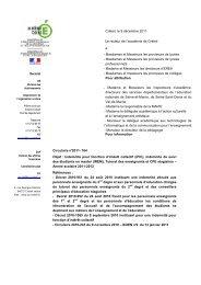 Circulaire rectorale n°2011-164 - Académie de Créteil