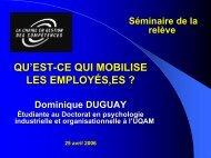 Dominique Duguay - Chaire de gestion des compétences - UQAM