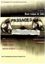 Passages - Dossier de Presse - Compagnie Les Accordéeuses