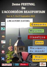 Les 6, 7, 8 et 9 Septembre 2012 - Accordéon Beaufortain - E-monsite