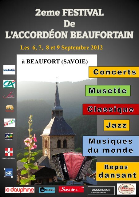 Les 6, 7, 8 et 9 Septembre 2012 - Accordéon Beaufortain - E-monsite