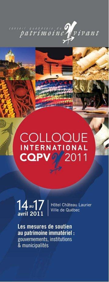 Programme PDF colloque CQPV 2011 - Conseil québécois du ...
