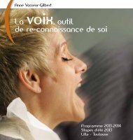 PROGRAMME 2013/14 - Anne Vasseur Gilbert