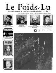 Journal du 2 avril 2007 - Département de sociologie - UQAM