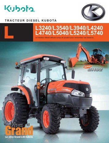 to download the L3540DT brochure. - Kubota
