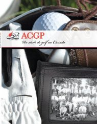 Un siècle de golf au Canada - Canadian Professional Golfers ...