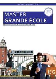 MASTER GrAnDE éCoLE - ISG